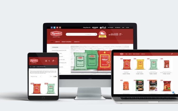 ramdev-website-development-mockup