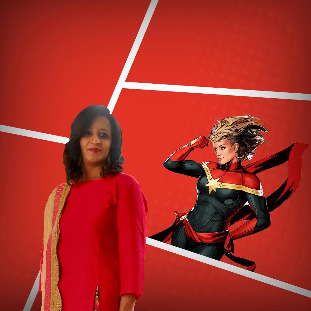 Juie Merchant - a.k.a. Captain Marvel